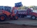heavy paving equipment