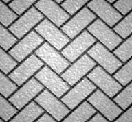 Surface Pattern - Diagonal Herringbone Stamped Concrete