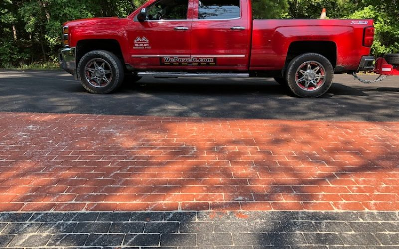 colored brick stamped asphalt A&A Asphalt